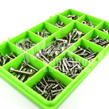 240 PIECE, No.2 4 6 8 POZI COUNTERSUNK SELF TAPPING SCREW A2 STAINLESS KIT