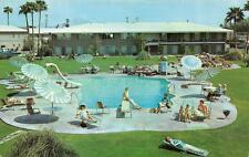 PHOENIX, Arizona AZ  HOTEL DESERT HILLS Swimming Pool ROADSIDE c1950's Postcard
