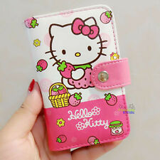 Cute Hello Kitty PU ID Credit Card ID Card Holder Business Card Case 18 Holders