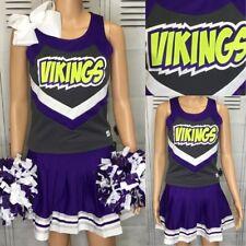"""Cheerleading Uniform Vikings Top 36"""" Chest Skirt 30"""" Waist"""