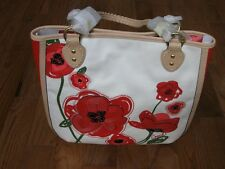NWT $398 Coach F22479 Poppy Placed Flower Limited Edition Tote Handbag Red/White
