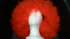 Adults Large Red  Afro Costume Wig
