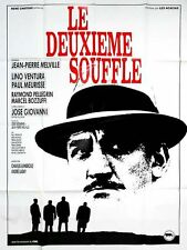 Affiche 120x160cm LE DEUXIÈME SOUFFLE 1966 Melville Lino Ventura RESSORTIE 90s #