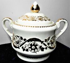 WEDGWOOD PATRICIAN GILT HIGHLIGHTS COVERED SUGAR BOWL