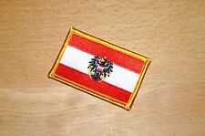 """Aufnäher Patch """"Flagge Österreich"""", 7 x 4,5 cm"""