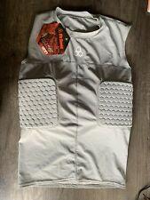 McDavid Football 791T Hexpad Bodyshirt 3 Pads Rib & Spine Gray Men's Large