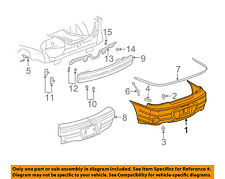 Pontiac GM OEM 99-05 Grand Am Rear Bumper-Cover 22610699