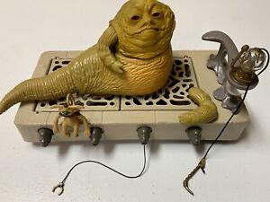 1983 Kenner Star Wars ROTJ Jabba The Hutt Playset Complete - Jabba's arm broken