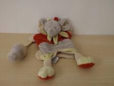 doudou éléphant gris rouge doudou et compagnie