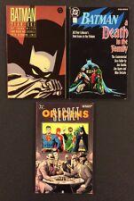 3 BATMAN Comic Book TPB YEAR ONE Death in the Family SECRET ORIGINS 1st Print VF
