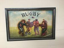 Estilo Vintage 3D de Madera Pared Arte ~ para Hombre Rugby Victoriano Casa Bar Club Deportivo