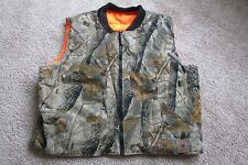Bob & Allen Real Tree Hardwoods Brown & Green Camo Hunting Lined Vest Sz L NEW
