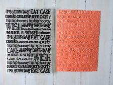Embossing Folder -  Happy Birthday Make a Wish
