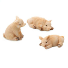 Miniature Dollhouse FAIRY GARDEN - Mini Piglets - Set of 3 - Accessories