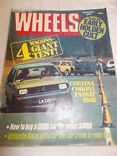 WHEELS - OZ CAR MAGAZINE - JAN 1977 - HOLDEN - VW PASSAT - HOLDEN SUNBIRD -