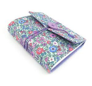 Lavender Flower Garden LINED Handmade Journal Notebook, Handbound Book