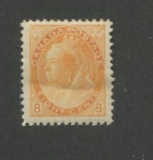1898 Canada 8 Cent Orange Stamp Scott #82 Queen Victoria CV $375