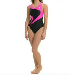 TYR Alliance T-Splice Maxback Womens Swimsuit Maxfit Size 30 Pink Black $70 NEW