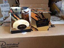 Vintage Faberge Tigress set 30ml 1oz Cologne Splash 2 1/2oz shower powder Savon