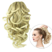 """Clip In Short Curly Ponytails Claw Wavy Ponytail Women's Hair Extensions 12"""""""
