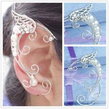 1 Pair Elven Ear Cuffs Filigree Cosplay Fairy Elf Ear Cuffs Fantasy Costume Ears