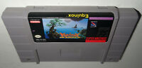 Authentic Super Nintendo Game EQUINOX! Cleaned, Tested! Fun SNES BATTERY SAVES