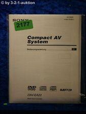 Sony Bedienungsanleitung DAV ES20 Compact AV System (#2177)