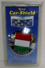 NEW HUNGARY Kings Car-Shield Fits ALL Auto Grills Emblem Brass, Chromium Finish