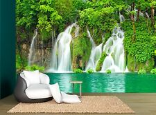 Waterfall Forest Landscape Green Wall Mural Photo Wallpaper GIANT WALL DECOR