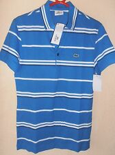 Mens Lacoste Polo Shirt XXS Size 2 Royal Blue & White Stripes BNWT