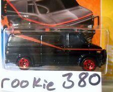 2011 Hot Wheels HW PREMIERE #39 * A-TEAM * GMC BLACK 1980's ICON van SHORT CARD