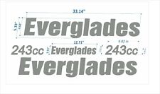 """Everglades 243* Boat Emblem 33"""" chrome + FREE FAST delivery DHL express - raised"""