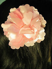 LIGHT PINK fabric flower decorative HAIR CLIP accessory