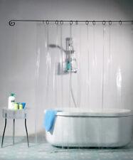 """72""""x72"""" Mildew Resistant Shower Curtain&Hooks Anti-Bacterial Liner Waterproof"""