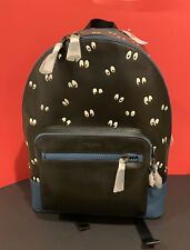 NWT Coach Disney Backpack Snow White Spooky Eyes Print F72958 Leather Bag Authen