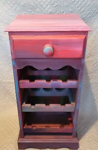 Wine Cabinet Upcycled Solid Wood Furniture