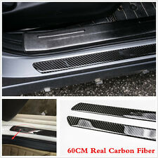 2pcs Universal Real Carbon Fiber Car Scuff Plate Door Sill Cover Panel Protector