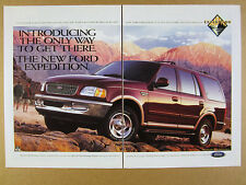 1996 Ford Expedition SUV 'Introducing' color photo vintage print Ad