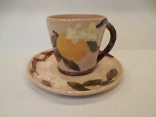 Hollywood Ware Orange Blossom Cup and Saucer Hand Decorated Vintage