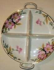 Azalea by Noritake a Rare 4 Section Porcelain Dish Hand Painted 19322 Excellent