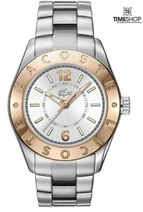 Lacoste 2000711 Biarritz Silver Dial Stainless Steel Strap Womens Watch