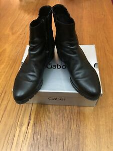 Gabor Women's Shoes Boots Ankle Boots Leather Black UK7