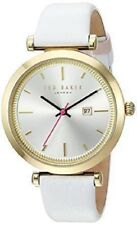 Ted Baker Ava Leather Strap 36mm Gold Tone Silver Dial Women's Watch 10031519