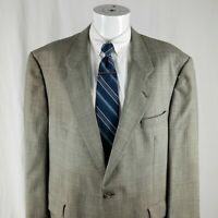 Hart Schaffner Marx Men's 46 R Glen Plaid 2 Button Wool Sport Coat Blazer Jacket
