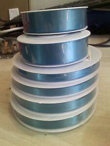 Personalized Aqua blue 25mm Ribbon Birthday Christmas Wedding Anniversary ,