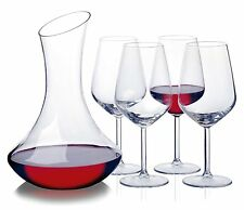 5 Piece Wine Whiskey Liqueur Drink Decanter Carafe Glasses Cup Gift Boxed Set