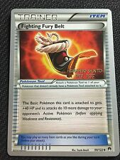 Pokemon TCG : 4 X FIGHTING FURY BELT 99/122 World Championship PROMO Uncommon