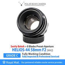 ⭐SERVICED⭐ HELIOS-44 58mm F2 *SWIRLY BOKEH* M42 + Cap [GRADE C, FULLY WORKING]