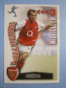 FREDRIK LJUNGBERG of Arsenal Shoot Out card 2003 / 04