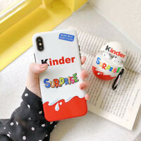 New Trolly egg KINDER JOY Surprise soft silicon cover cases for iphone XS XR MAX